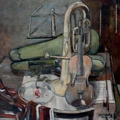 Still Life with Musical Instruments by Jean Welz
